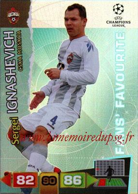2011-12 - Panini Champions League Cards - N° 306 - Sergei IGNASHEVICH (CSKA Moscou) (Fans' Favourite)