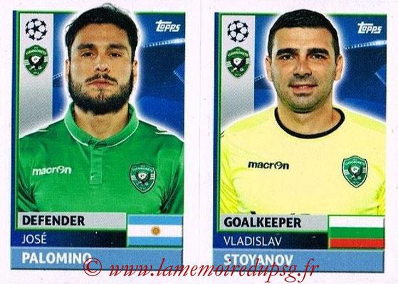 2016-17 - Topps UEFA Champions League Stickers - N° QFF 3-4 - Vladislav STOJANOV + José PALOMINO (PFC Ludogoretz Razgrad)