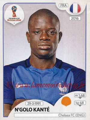 2018 - Panini FIFA World Cup Russia Stickers - N° 202 - N'Golo KANTE (France)
