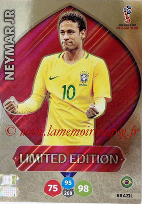 2018 - Panini FIFA World Cup Russia Adrenalyn XL - N° LE-NE - NEYMAR Jr. (Brésil) (Limited Edition)