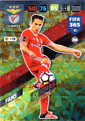 2017-18 - Panini FIFA 365 Cards - N° 300 - JONAS (SL Benfica) (Fans' Favourite)