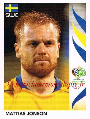 2006 - Panini FIFA World Cup Germany Stickers - N° 167 - Mattias JONSON (Suède)