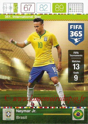 2015-16 - Panini Adrenalyn XL FIFA 365 - N° 351 - NEYMAR Jr (Brésil) (International Star)