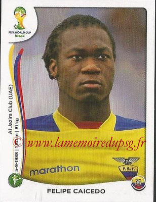 2014 - Panini FIFA World Cup Brazil Stickers - N° 372 - Felipe CAICEDO (Equateur)