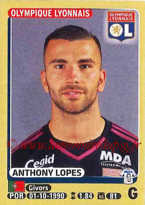 2015-16 - Panini Ligue 1 Stickers - N° 195 - Anthony LOPES (Olympique Lyonnais)