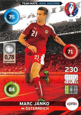 Panini Euro 2016 Cards - N° 237 - Marc JANKO (Autriche) (Goal Machine)
