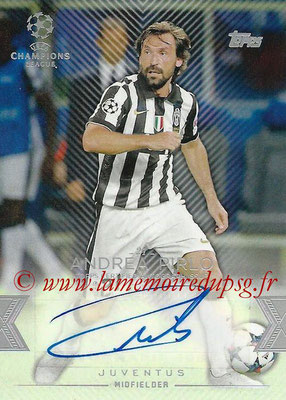 2015-16 - Topps UEFA Champions League Showcase Soccer - N° CLA-AP - Andrea PIRLO (Juventus FC) (Base Autographs Cards)