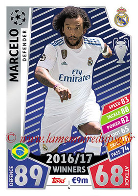 2017-18 - Topps UEFA Champions League Match Attax - N° 004 - MARCELO (Real Madrid CF)