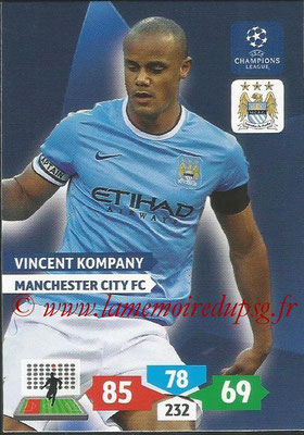 2013-14 - Adrenalyn XL champions League N° 164 - Vincent KOMPANY (Manchester City FC)