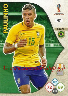 2018 - Panini FIFA World Cup Russia Adrenalyn XL - N° 047 - PAULINHO (Brésil)