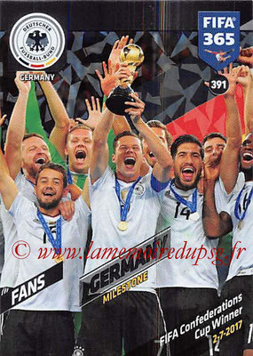 2017-18 - Panini FIFA 365 Cards - N° 391 - Célébration Allemagne (Milestone)