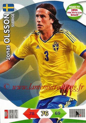 2014 - Panini Road to FIFA World Cup Brazil Adrenalyn XL - N° 169 - Jonas OLSSON (Suède)