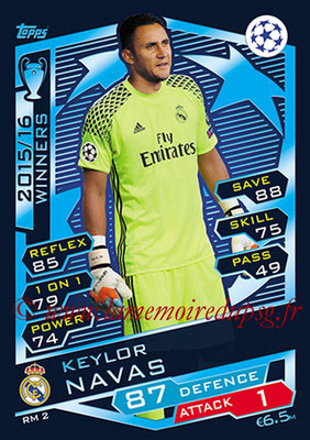 2016-17 - Topps UEFA Champions League Match Attax - N° RM2 - Keylor  NAVAS (Real Madrid CF)