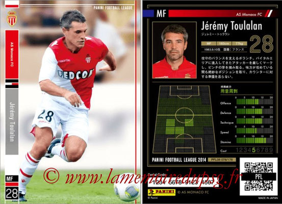 Panini Football League 2014 - PFL08 - N° 078 - Jérémy TOULALAN (AS Monaco)