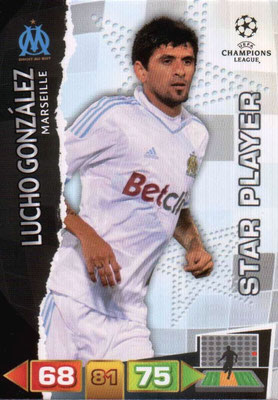 2011-12 - Panini Champions League Cards - N° 198 - Lucho GONZALES (Olympique de Marseille) (Star Player)