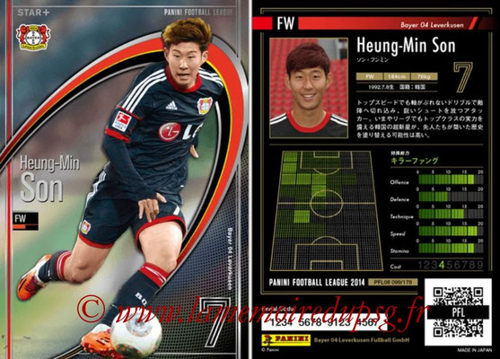 Panini Football League 2014 - PFL08 - N° 099 - Heung-Min SON (Bayer Leverkusen) (Star +)
