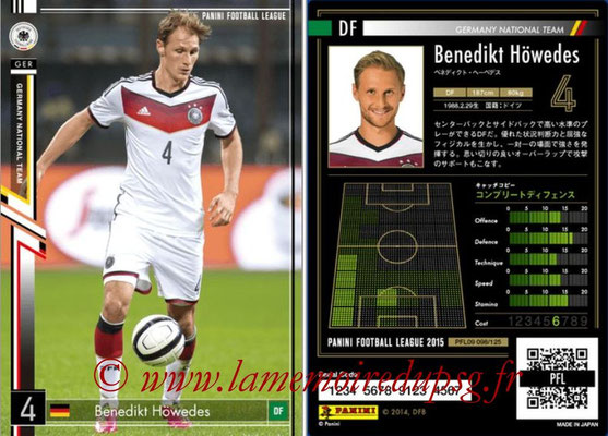 Panini Football League 2015 - PFL09 - N° 098 - Benedikt HÖWEDES (Allemagne)