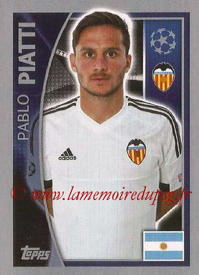 2015-16 - Topps UEFA Champions League Stickers - N° 562 - Pablo PIATTI (FC Valence)