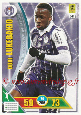 2017-18 - Panini Adrenalyn XL Ligue 1 - N° 341 - Dodi LUKEBAKIO (Toulouse)