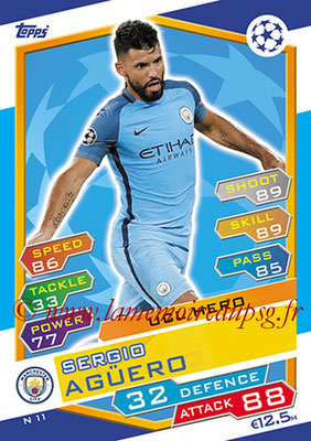 2016-17 - Topps UEFA Champions League Match Attax - N° N11 - Sergio AGÜERO (Manchester City FC) (UCL Hero) (Nordic Edition)