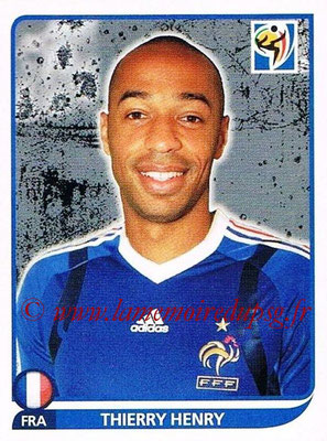 2010 - Panini FIFA World Cup South Africa Stickers - N° 103 - Thierry HENRY (France)