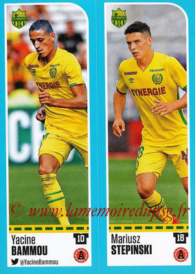 2016-17 - Panini Ligue 1 Stickers - N° 606 + 607 - Yacine BAMMOU + Mariusz STEPINSKI (Nantes)