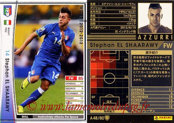 2012-13 - WCCF - N° A48 - Stephan EL SHAARAWY (Italie)