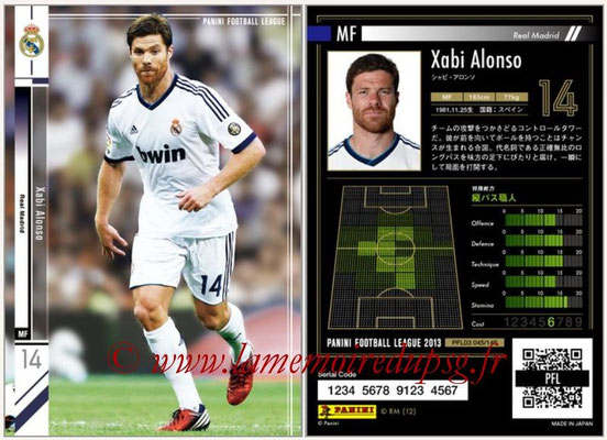 Panini Football League 2013 - PFL03 - N° 045 - Xabi Alonso (Real Madrid)