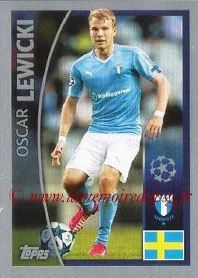2015-16 - Topps UEFA Champions League Stickers - N° 016 - Oscar LEWICKI (Malmö FF)