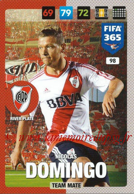 2016-17 - Panini Adrenalyn XL FIFA 365 - N° 098 - Nicolas DOMINGO (CA River Plate)