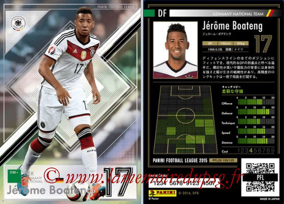 Panini Football League 2015 - PFL09 - N° 100 - Jérôme BOATENG (Allemagne) (Star +)