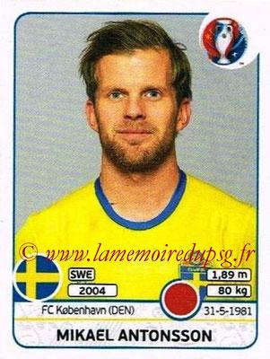 Panini Euro 2016 Stickers - N° 550 -  Mikael ANTONSSON (Suède)