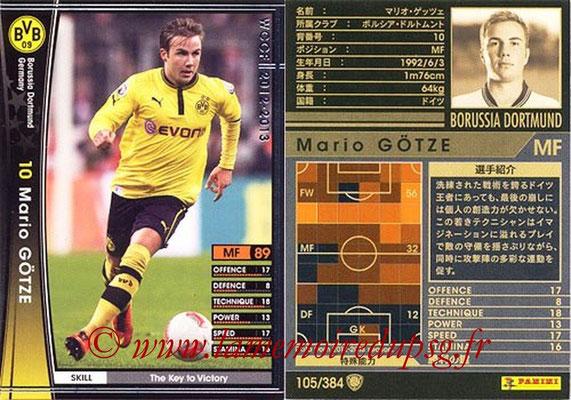 2012-13 - WCCF - N° 105 - Mario GÖTZE (Borussia Dortmund)