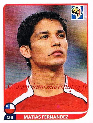 2010 - Panini FIFA World Cup South Africa Stickers - N° 632 - Matias FERNANDEZ (Chili)