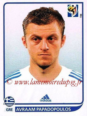 2010 - Panini FIFA World Cup South Africa Stickers - N° 170 - Avraam PAPADOPOULOS (Grèce)