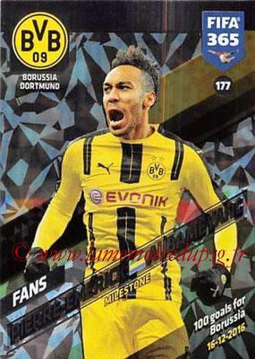 2017-18 - Panini FIFA 365 Cards - N° 177 - Pierre-Emerick AUBAMEYANG (Borussia Dortmund) (Milestone)