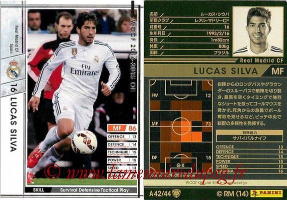 2013-14 - WCCF - N° A42 - Lucas SILVA (Real Madrid CF)