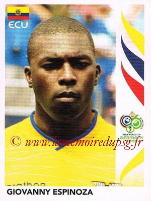 2006 - Panini FIFA World Cup Germany Stickers - N° 080 - Giovanny ESPINOZA (Equateur)