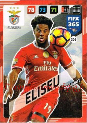 2017-18 - Panini FIFA 365 Cards - N° 306 - ELISEU (SL Benfica)
