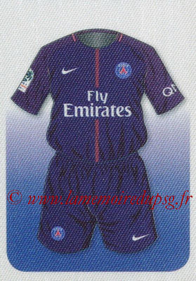 2017-18 - Panini Ligue 1 Stickers - N° 387 - Maillot PSG (Paris Saint-Germain)