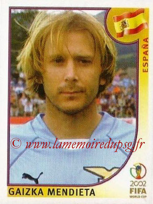 2002 - Panini FIFA World Cup Stickers - N° 107 - Gaizka MENDIETA (Espagne)