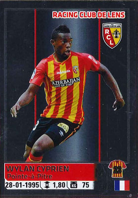 2014-15 - Panini Ligue 1 Stickers - N° 143 - Wylan CYPRIEN (RC Lens)