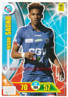 2017-18 - Panini Adrenalyn XL Ligue 1 - N° 321 - Ihsan SACKO (Strasbourg)