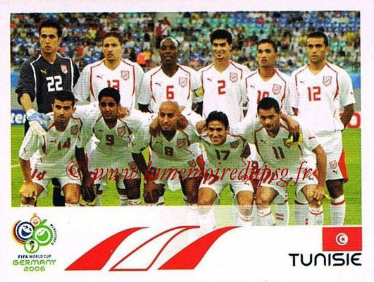 2006 - Panini FIFA World Cup Germany Stickers - N° 568 - Équipe Tunisie