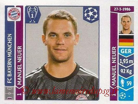 2014-15 - Panini Champions League N° 345 - Manuel NEUER (FC Bayern Munich)