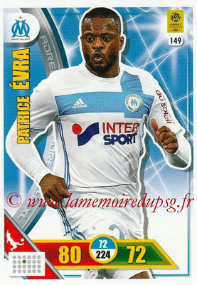 2017-18 - Panini Adrenalyn XL Ligue 1 - N° 149 - Patrice EVRA (Marseille)