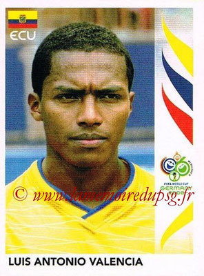 2006 - Panini FIFA World Cup Germany Stickers - N° 088 - Luis Antonio VALENCIA (Equateur)