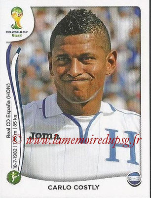 2014 - Panini FIFA World Cup Brazil Stickers - N° 411 - Carlo COSTLY (Honduras)