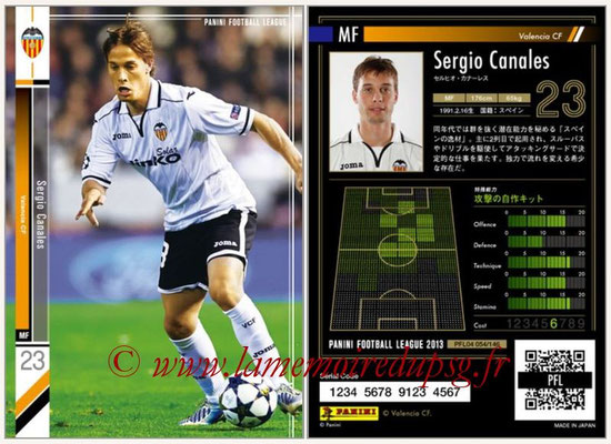 Panini Football League 2013 - PFL04 - N° 054 - Sergio CANALES (FC Valence)