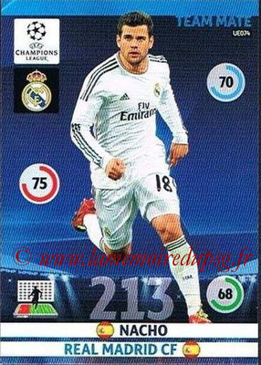 2014-15 - Adrenalyn XL champions League Update edition N° UE074 - NACHO (Real Madrid)